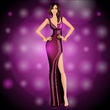 Dancing party girl royalty free illustration