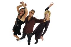 Dancing party goers Stock Photo