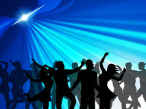 Dancing Party Indicates Cheerful Nightclub And Celebrate Stock Photo