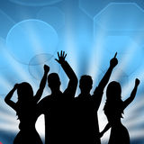 Dancing Party Indicates Disco Music And Celebrate Stock Images