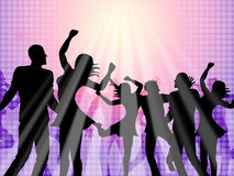 Dancing Party Means Disco Music And Celebration Royalty Free Stock Image