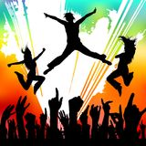 Dancing people. Grunge style dancing people vector Stock Photos