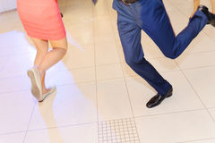 Dancing People. Dancing man and woman at restaurant Royalty Free Stock Photos