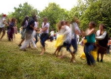 Dancing people. With motion blur Royalty Free Stock Photo