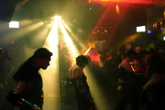 Dancing people. In an underground club royalty free stock photos