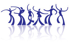 Dancing people Royalty Free Stock Photos