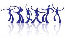 Dancing people Royalty Free Stock Photos
