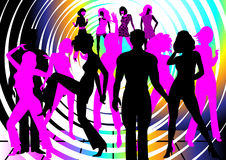 Dancing people Stock Image