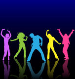 Dancing people. Royalty Free Stock Photo