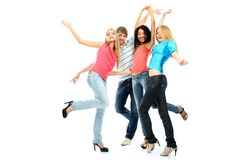 Dancing People Royalty Free Stock Photo