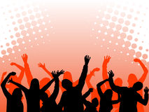 Dancing people. Vector illustration of a dancing audience Royalty Free Stock Photography