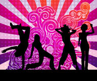 Dancing people bright abstract background Stock Images