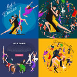 Dancing People, Dancer Bachata, Hiphop, Salsa, Indian, Ballet, Strip, Rock and Roll, Break, Flamenco, Tango. Contemporary, Belly Dance Pictogram Icon Dancing royalty free illustration