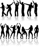 Dancing people at disco. Royalty Free Stock Photo