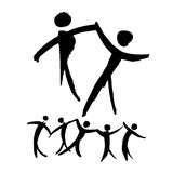 Dancing people hand drawn illustration. Royalty Free Stock Photography