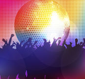 Dancing people. Happy crowd disco Royalty Free Stock Photography