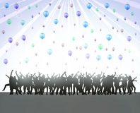 Dancing people. Happy crowd party Royalty Free Stock Image