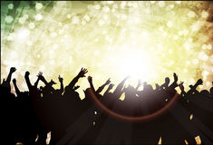 Dancing people. Happy crowd party Stock Photography