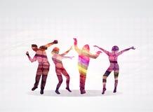 Dancing people Stock Image