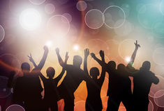 Dancing people. Happy people together Royalty Free Stock Photography