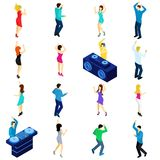 Dancing People Isometric Stock Image