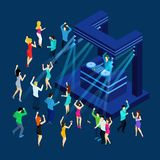 Dancing People Isometric Illustration Stock Photography