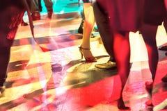 Dancing people. By long exposure Royalty Free Stock Image
