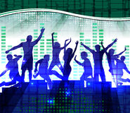 Dancing people, music background. Dancing people, music abstract background Stock Images