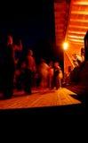 Dancing people at night Royalty Free Stock Photo