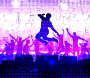 Dancing people. Nightparty vector background Royalty Free Stock Photography