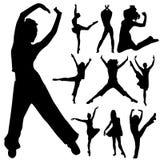Dancing people set vector illustration