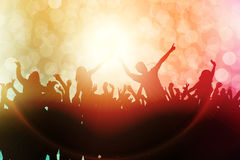 Dancing people silhouettes Royalty Free Stock Images