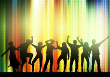Dancing people silhouettes Stock Photo