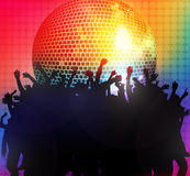 Dancing people silhouettes. Party time Stock Photo