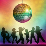 Dancing people silhouettes. Party time Royalty Free Illustration