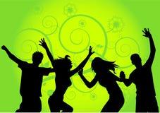 Dancing people v vector illustration