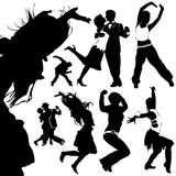 Dancing people vector Stock Images