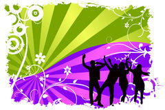 Dancing people vector Royalty Free Stock Photography