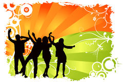 Dancing people vector Stock Photos