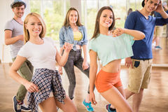 Dancing people Royalty Free Stock Image