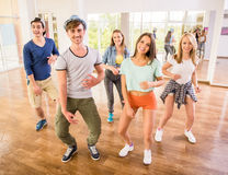 Dancing people Royalty Free Stock Images