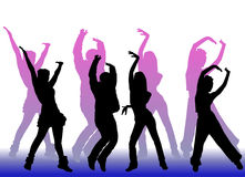 Dancing peoples Royalty Free Stock Images