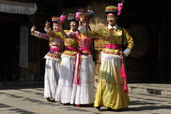 Dancing Performance of the Mosuo Minority, China Stock Photography
