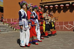 Dancing Performance of the Yi Minority, China Royalty Free Stock Images