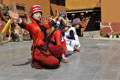 Dancing Performance of the Yi Minority, China Stock Images