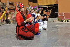 Dancing Performance of the Yi Minority, China Royalty Free Stock Image