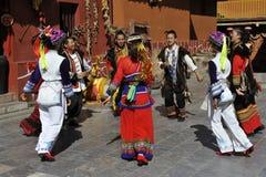 Dancing Performance of the Yi Minority, China Stock Photo