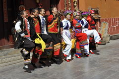 Dancing Performance of the Yi Minority, China Stock Photography