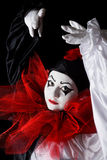 Dancing Pierrot Stock Image
