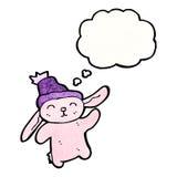 dancing pink bunny cartoon Stock Photos